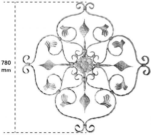 KYL-2403 (615x615mm) ▃6x12mm扁鐵