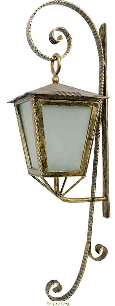 KYL-TL148 鍛造壁掛式吊燈 (W255xH350x1000mm) 含熱浸鍍鋅+粉體烤漆+上色