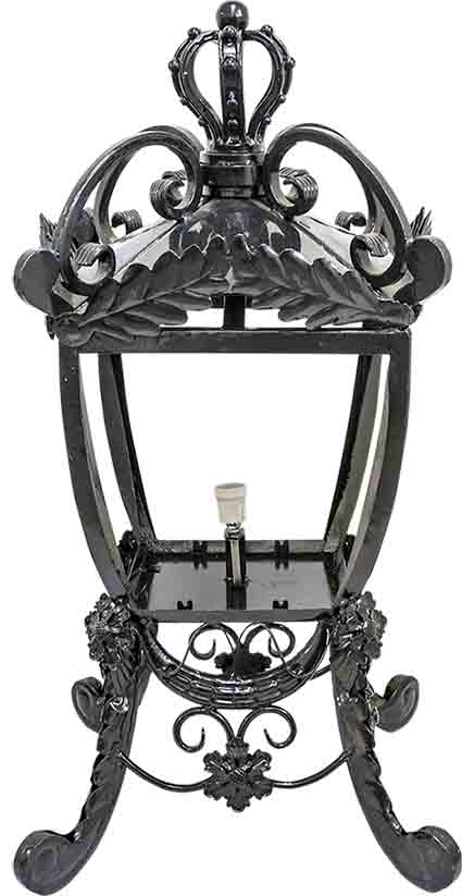 KYL-TL149 鍛造立式柱頭燈 (W529xH900mm) 含熱浸鍍鋅+烤漆+上色,含燈座+配線+玻璃燈罩